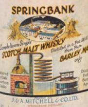 Springbank 30 Year Old Single Malt Scotch 1966