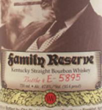 Pappy Van Winkle Family Reserve 23 Year Old Bourbon