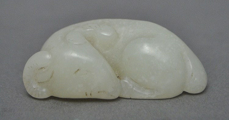 A Chinese Jade Carved Ram