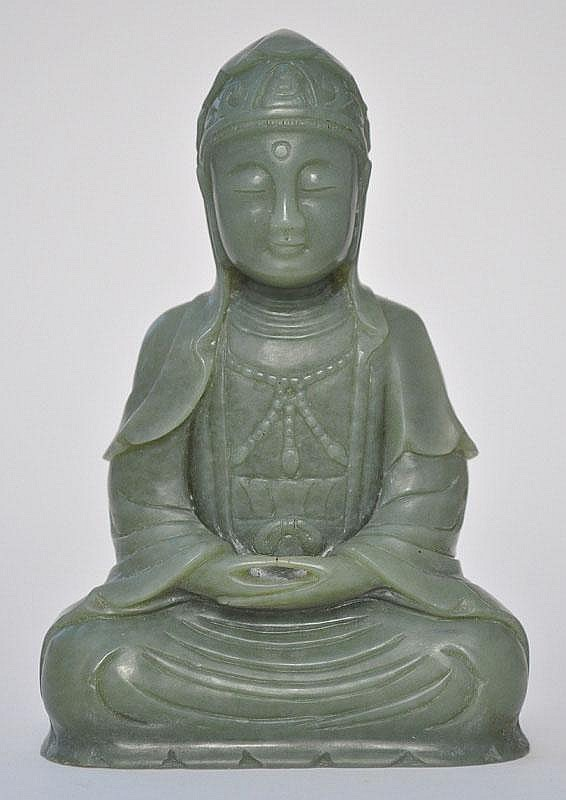 A Jade Seated Avalokitesvara (Guanyin)