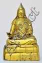 A Sino-Tibetan Gilt Bronze Figure of Lama