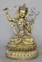 A Large Sino-Tibetan Gilt Bronze Manjushri