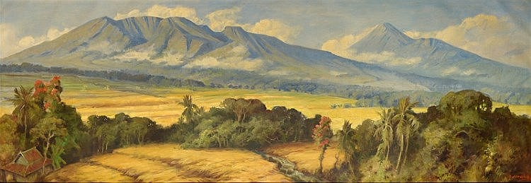 Raden Basuki Abdullah (1915-1993), 'Indonesian landscape', s