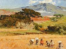 Gerard Pieter Adolfs (1898-1968), 'Rice harvest', signed low