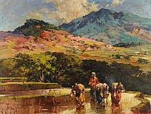 Gerard Pieter Adolfs (1898-1968), 'In de tuin van Java' ('In