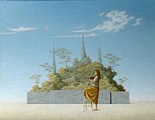 Ruud Verkerk (1957), 'De violiste', gesigneerd l.o. en gedat