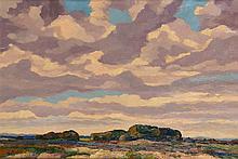 Peter van den Braken (1896-1979), 'Landschap', gesigneerd l.