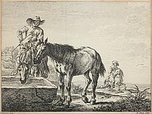 CHATELIN Jean-Baptiste Claude ''Landschaft mit Rei
