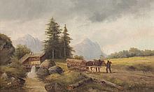 FUGER Ludwig (2.H.19.Jh.) ''Voralpenlandschaft'' Ö