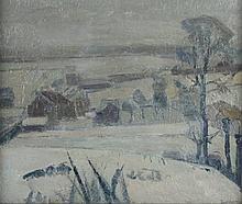 JACQUEMYNS (Maler 1.H.20.Jh.) ''Verschneite Landsc