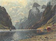 LARSEN O. (Maler A.20.Jh.) ''Norwegischer Fjord''