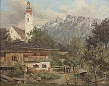 ZAMPHIGIE F. (Maler um 1900) ''Alpendorf'' Öl/Malp