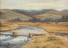 SCHMID Julius (Maler um 1900) ''Landschaft mit Bac
