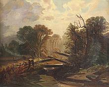 BAUER Carl (Maler des 19.Jh.) ''Romantische Waldla