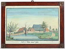 MALER UM 1830 ''Ansicht des Ohlhofes ohnweit Gosla