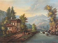 SEMBACH E. (Maler um 1900) ''Gebirgslandschaft'' Ö