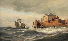 STURM Fritz Ludwig C. (1834-1906) ''Stürmische See