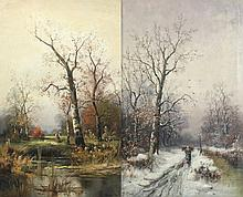 STEIGER B. (Maler A.20.Jh.) Paar Gemälde ''Herbst