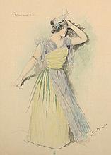 BECHSTEIN Ludwig (1843-1914) ''Isarnixe'' Aquarell