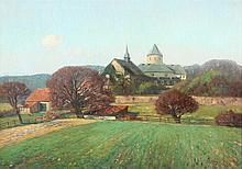 VOGEL Werner (1889-1957) ''Burg in der Eifel'' Öl/