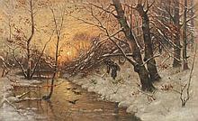 MUNTHE Ludwig (1841-1896) zugeschrieben ''Winterli