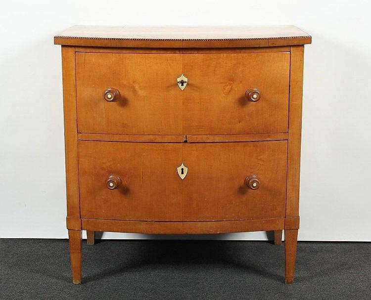 kleine biedermeier kommode birke kirschbaum zweisch big b. Black Bedroom Furniture Sets. Home Design Ideas