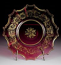 RUBY GLASS PLATE