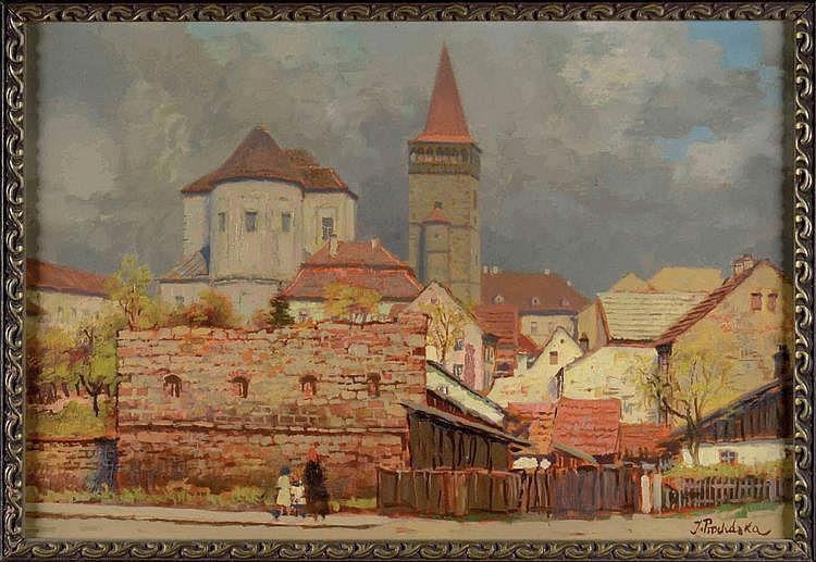 Jaro Procházka (1886-1949) KRAKOW. View into