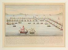 Johann Martin Will (1727-1806) A SEA BATTLE. A sea