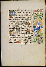 A PAGE FROM THE BOOK OF HOURS France, 1st half of