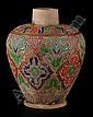 Vase with oriental decoration