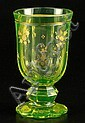 Goblet made of uranium glass