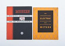 [IBM], Modern Machine Accounting for the Manufacturer. 44 pp. Stapled. Illustrated trade catalogue f