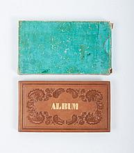 Album amicorum with 16 contributions dated 1841-1850, contributions such as drawings, cutting artwor