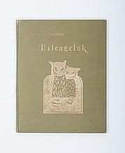 Theo van Hoytema - Uilengeluk, Tekst van Tine. Geteekend op steen door Th. van Hoytema. C.M. van Gog