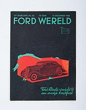 Automobilia, Lot with ca. 50 magazines about the Automobile. These include Ford Wereld, de Auto and