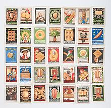 [Picture stamps], Album with ca. 700 picture stamps. All Dutch. Incl. ACL, Java,  wed. van Doesburg,