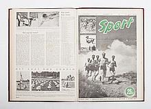 [Sport] Weekblad Sport, First volume, issues 1 to 32,  no. 1 in odd size in half cloth binding (40 x
