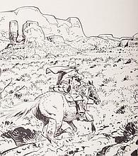 Charlier/Giraud/Vance - Blueberry, Screen print, 1982. Page from album 20, de Ongrijpbare Navaho's.