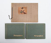 [Indonesia] 3 photo albums, 1. photo album, green cloth, oblong (27 x 37 cm.). Sugar factory Kentjon