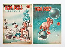 Marten Toonder - Tom Poes Weekblad, Lot with 148 Tom Poes weekbladen from the first to fourth volume