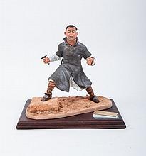 Hermann - Sculpture Aymar, Wolf Schumacher, Empire Buch und Kunst. ca. 1995. Sculpture of Aymar in o
