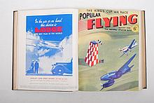 [Aviation], Popular Flying. The National Aviation Paper. Monthly magazine. Two bundlings of 27 issue
