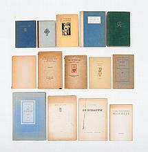 [Marginalia]  -  Gerrit Achterberg, Mascotte. Querido, 1st ed., 1950. 44 pp. No. 664 of 800 + Serenade. Gedichten van J. Slauerhoff. A.A.M. Stols, Maastricht, 1930. Edition of 300 copies. Unnumbered copy