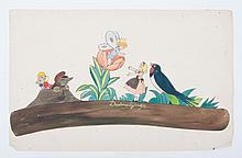 Original illustrations  -  Illustrations for children's books and/or games from the '30s