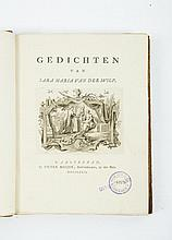 [Poems] Sara Maria van der Wilp  -  Gedichten van Sara Maria van der Wilp. Amsterdam. Pieter Meijer. 1772, 4to. Half leather. Title on spine in gilt stamping, title leaf with large vignette by De Bosch and Vinkeles, (10),296,(4) pp., 2 full