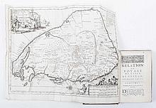 [Sri Lanka] Relation ou Voyage de l'Isle de Ceylan, dans les Indes Orientales - (..._). Par Robert Knox. Traduit de l'Anglois. Enrichi de Figures, avec la Carte de l'Isle. Amsterdam, Paul Marret, 1693, 2 volumes in 1 binding, (22),218; (6),180,(28)