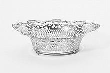 A silver bread basket