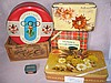 Mixed vintage Tins inc 1956 Olympics