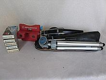 Vintage Viewmaster and 25 plus reels includes Moon Landing, H/Berry Hound